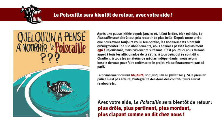 Le Poiscaille - Le retour du journal satirique