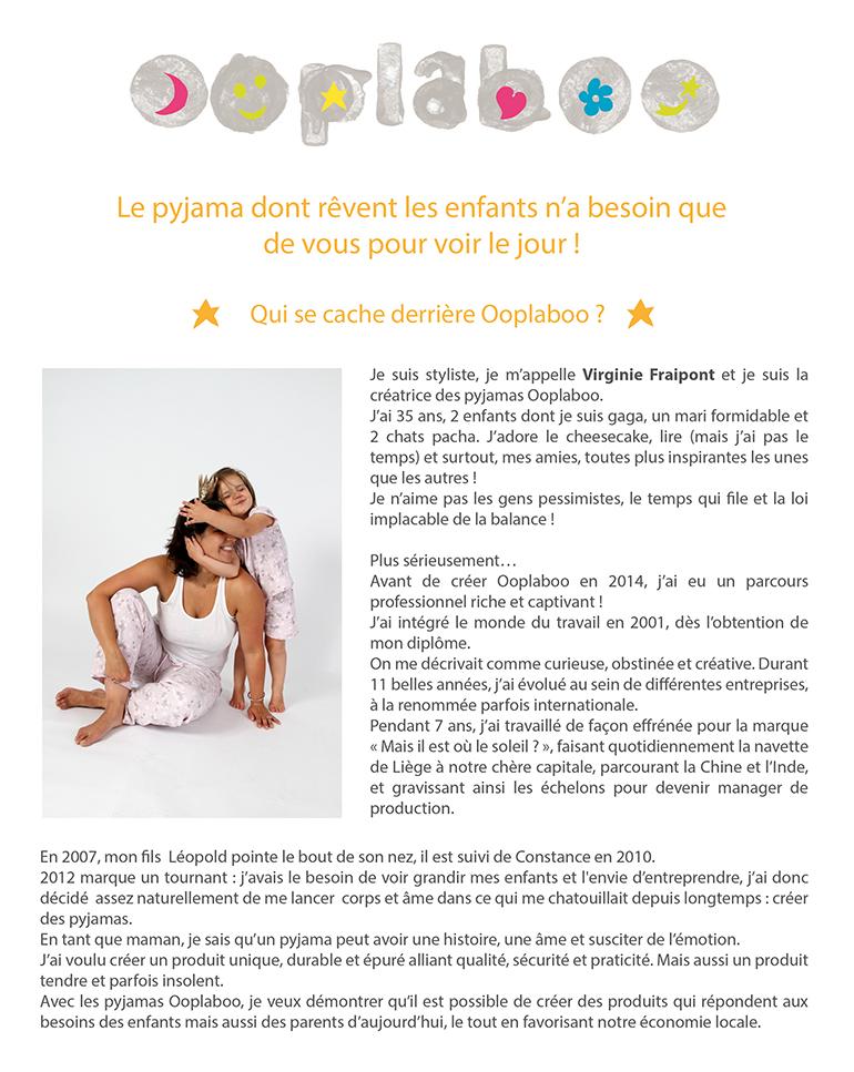 OOPLABOO - Le pyjama belge