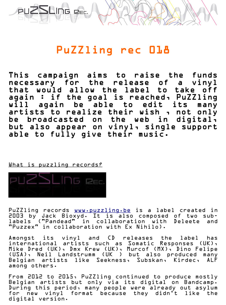 PuZZling rec 018 - Acid Vinyl