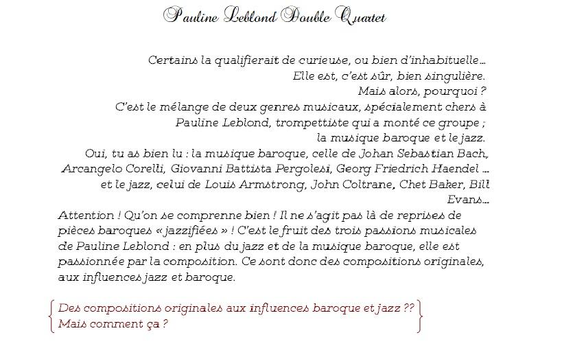 Pauline Leblond Double Quartet