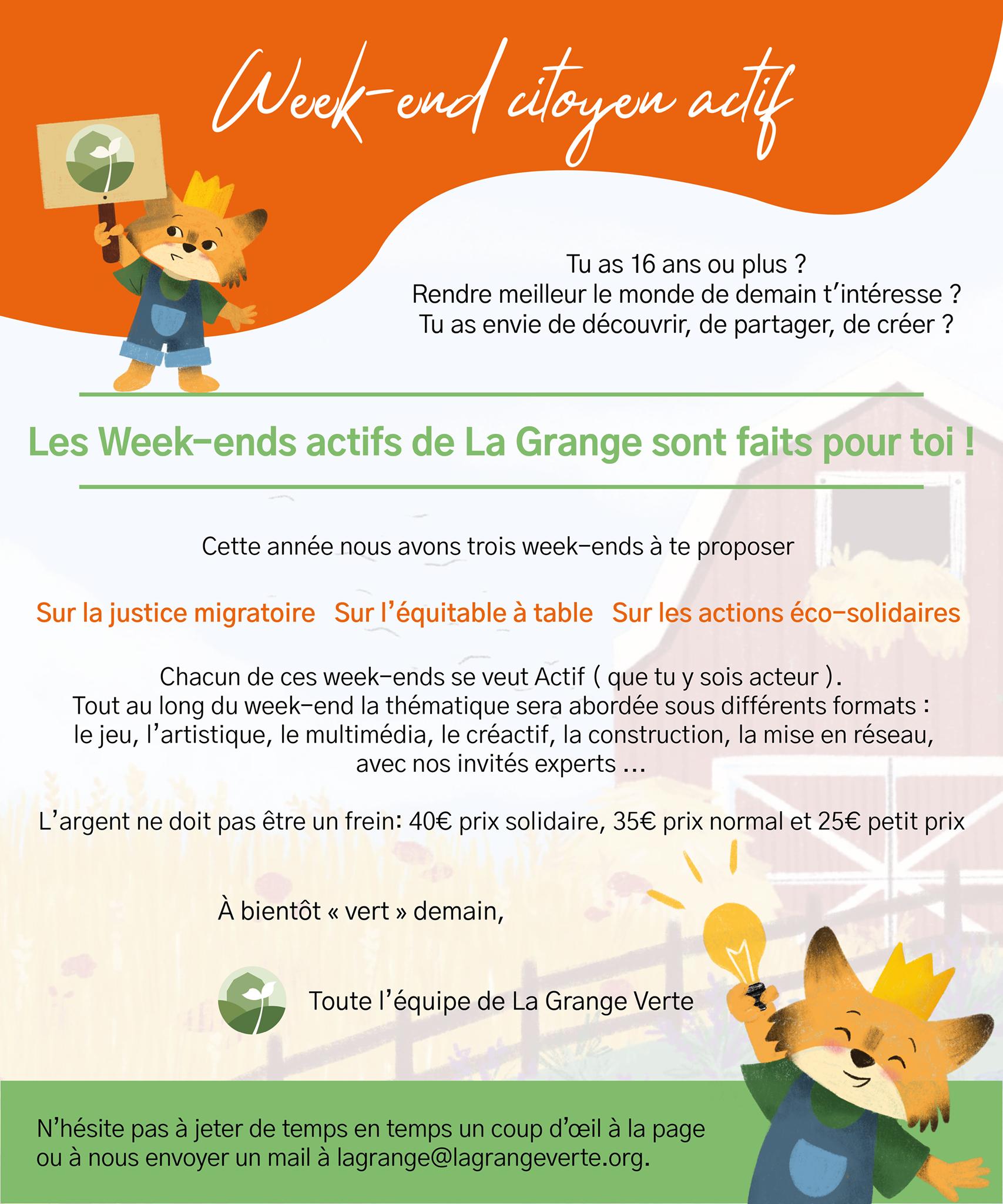 "La Grange Verte ASBL - Partons ensemble ""vert"" demain"